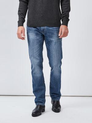 Jeans straight effet delave denim double stone homme