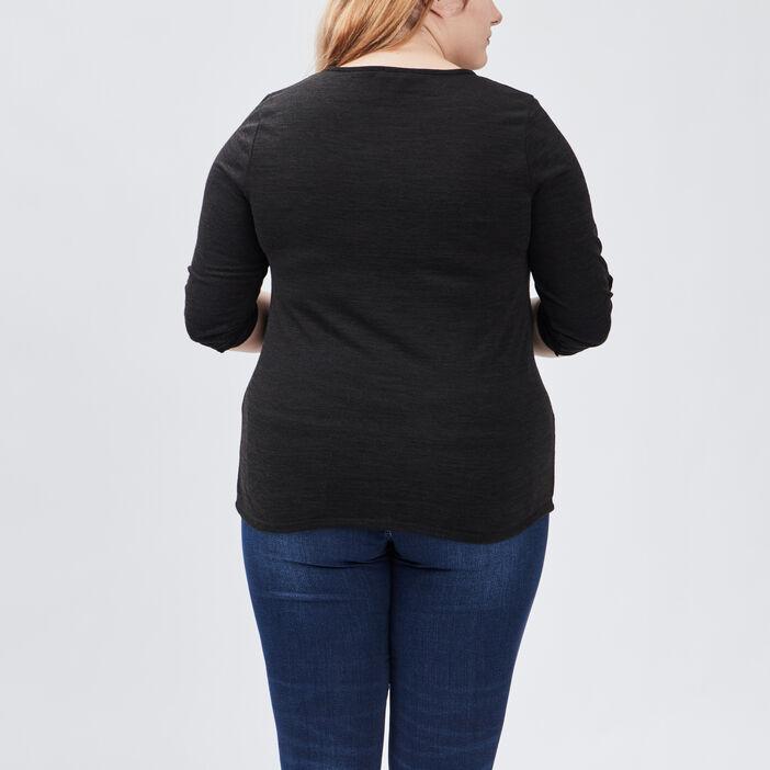 T-shirt femme grande taille noir
