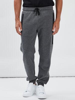 Pantalon jogging droit gris fonce homme