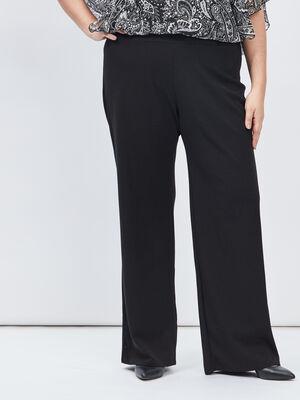 Pantalon ample grande taille noir femmegt