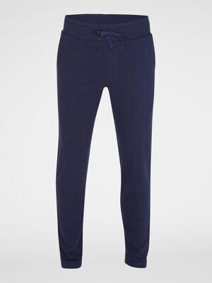 Pantalon de pyjama en coton bleu marine homme