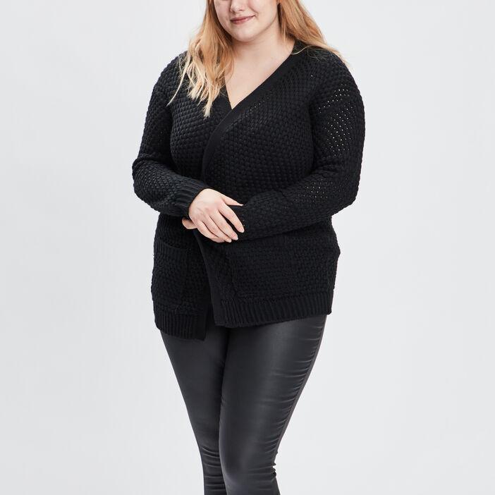 Gilet grande taille femme grande taille noir