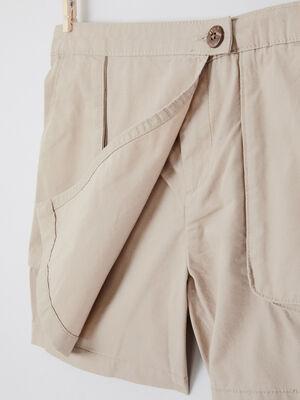 Jupe short avec poches a soufflet beige fille