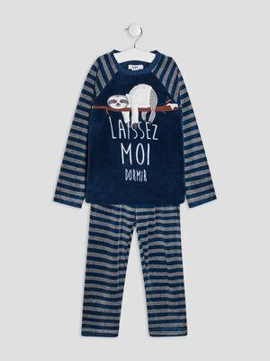 Ensemble de pyjama 2 pieces bleu marine garcon