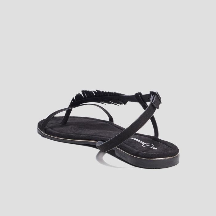 Sandales plates Mosquitos femme noir