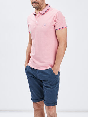 Polo manches courtes Creeks rose homme