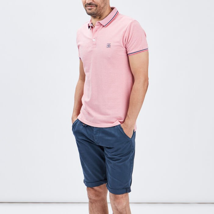 Polo manches courtes Creeks homme rose