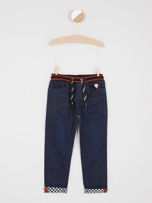 Jean coupe slim taille extensible denim blue black garcon