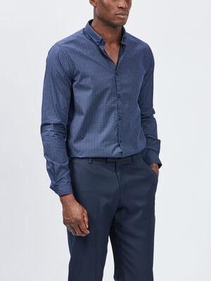 Chemise Yves Dorsey bleu marine homme