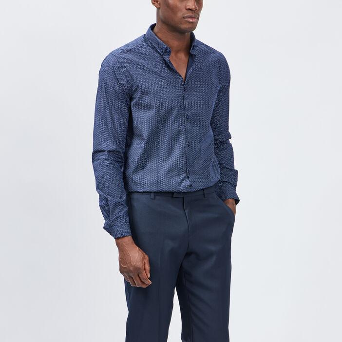 Chemise Yves Dorsey homme bleu marine