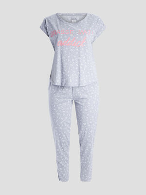 Ensemble pyjama 2 pieces gris femmegt