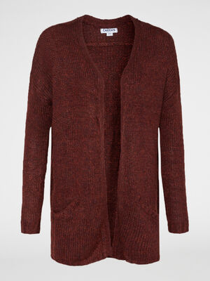 Gilet long style veste marron femme