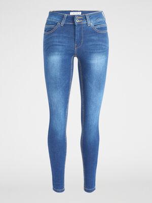 Jean skinny taille basse denim double stone femme