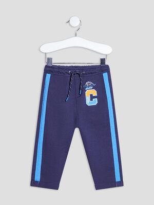 Pantalon droit taille elastiquee Creeks bleu marine bebeg