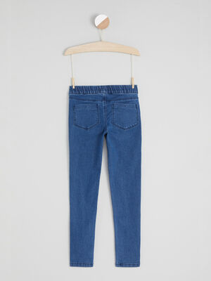 Jean coupe skinny uni denim double stone fille