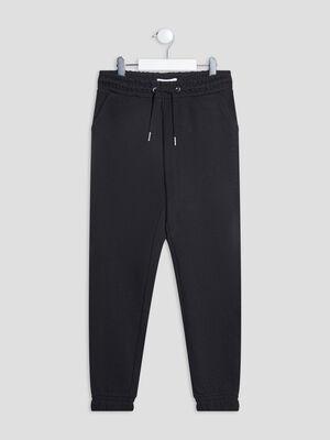 Pantalon jogging droit noir fille