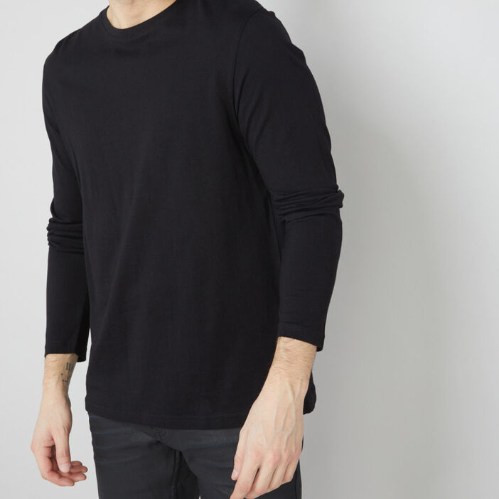 T-shirt manches longues homme noir