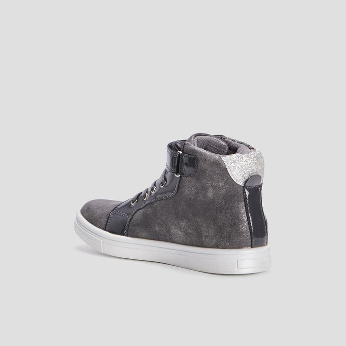Baskets montantes fille gris