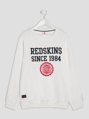 Sweat manches longues Redskins blanc garcon