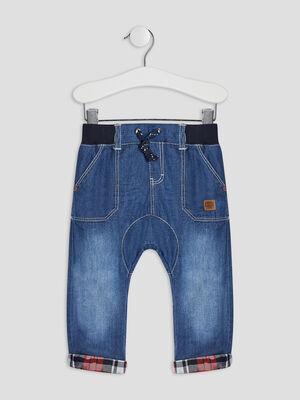 Jeans droit elastique denim double stone bebeg