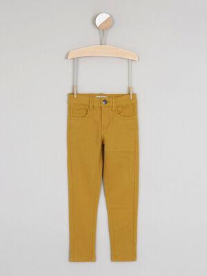 jean droit 5 poches jaune garcon
