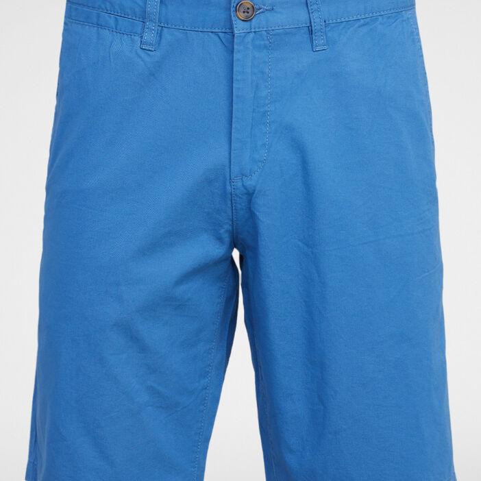 Bermuda coton uni coupe droite homme bleu