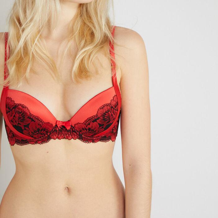 Soutien gorge ampliforme PRUNELLE femme rouge