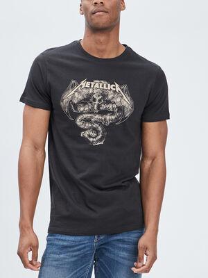 T shirt Metallica gris homme