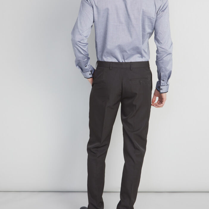 Pantalon de ville uni homme noir