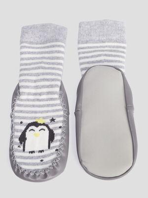 Chaussettes dinterieur gris fonce mixte