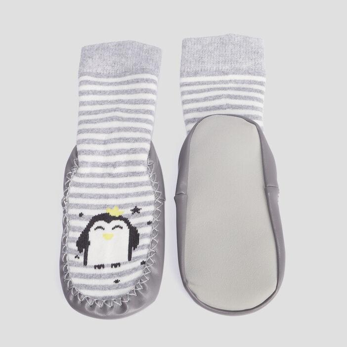 Chaussettes d'intérieur mixte gris fonce