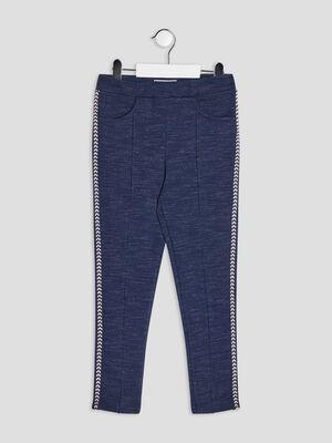 Pantalon jegging slim bleu marine fille