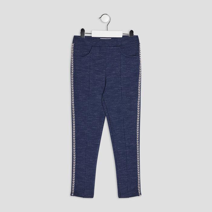 Pantalon jegging slim fille bleu marine