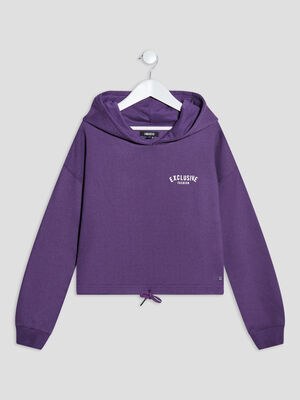 Sweat a capuche Liberto violet fille