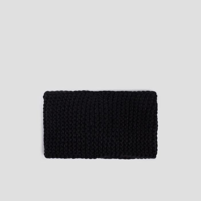 Bandeau tricoté mixte noir