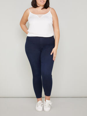 Jegging grande taille uni denim blue black femmegt