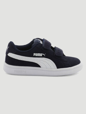 Tennis cuir Puma SMASH V2 bleu fille