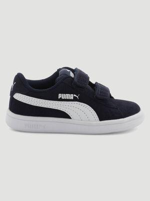 Tennis cuir Puma SMASH V2 bleu fille
