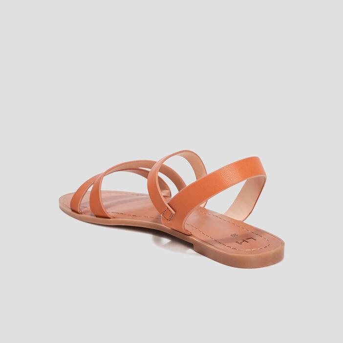 Sandales plates femme marron