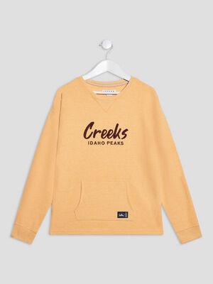 T shirt manches longues Creeks jaune garcon