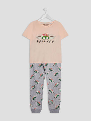 Ensemble pyjama Friends rose fille