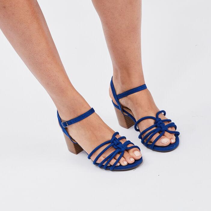 Sandales à talons femme bleu