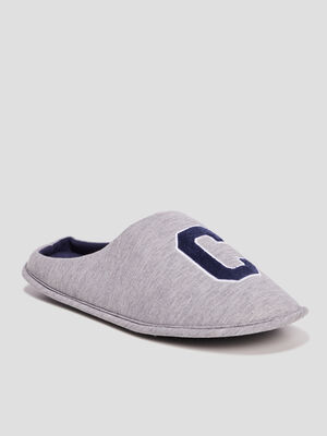 Chaussons mules gris homme