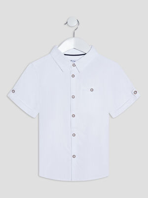 Chemise manches courtes Creeks blanc garcon