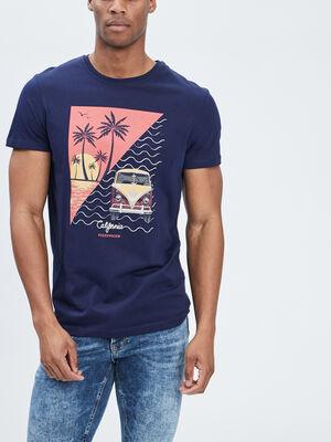 T shirt Volkswagen bleu marine homme