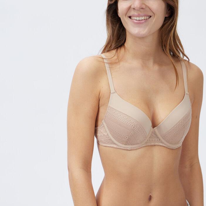 Soutien-gorge corbeille femme beige