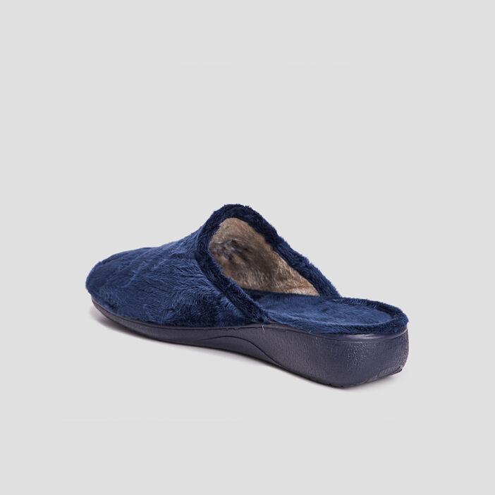 Chaussons mules femme bleu marine
