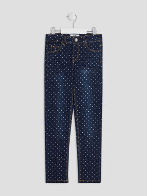 Jeans slim denim brut fille