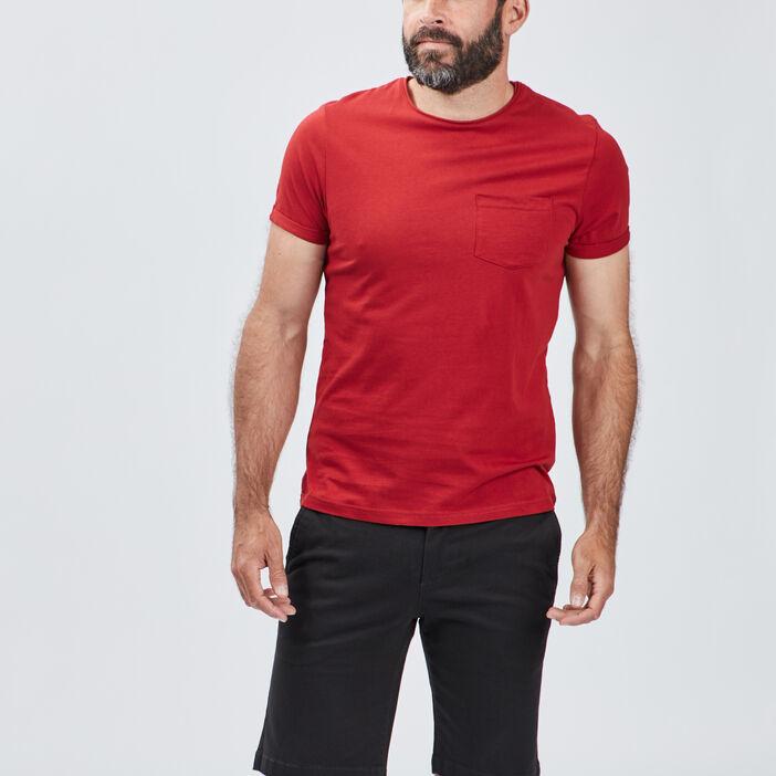 T-shirt manches courtes homme bordeaux