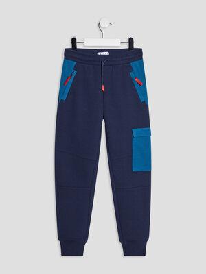 Jogging droit Creeks bleu marine garcon